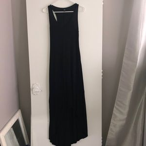 Xs Black High Low Hem Maxi Dress